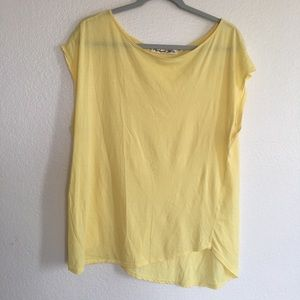 Michael Stars Yellow Tee Shirt Top Blouse